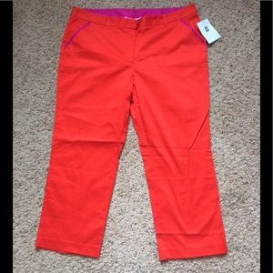 Jaclyn smith colorblock crop pants 18